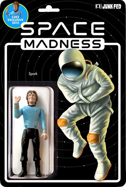 "C2E2 2015 Exclusive ""Spork"" Bootleg Star Trek x Mork & Mindy Resin Figure by Junk Fed"