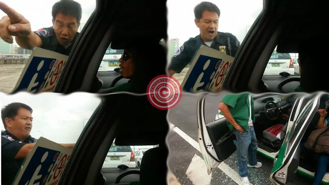 Video of NAIA Police Officer Breaking Taxi's Window Glass Goes Viral
