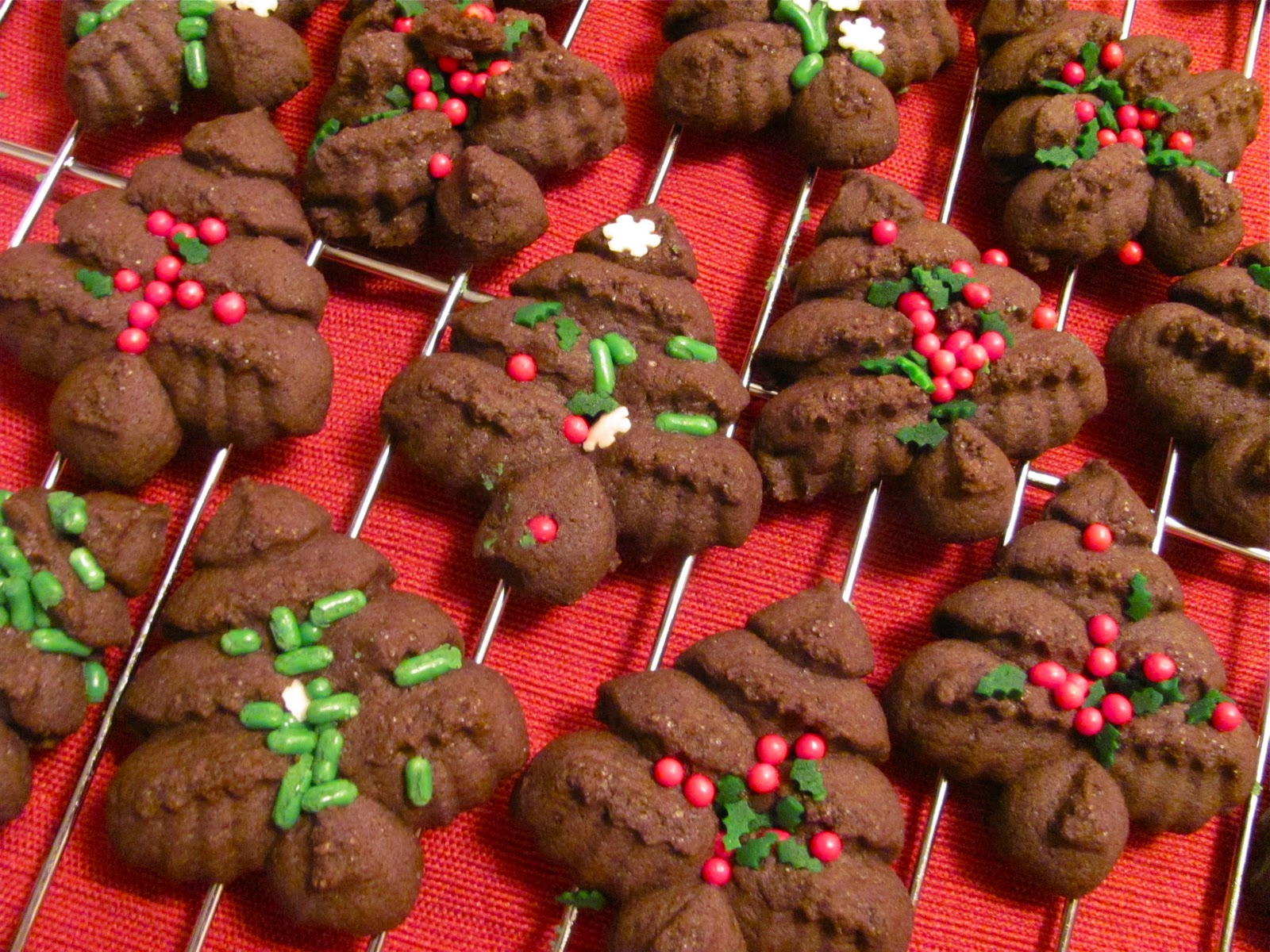 The Chocolate Muffin Tree Cocoa Press Christmas Tree Cookies