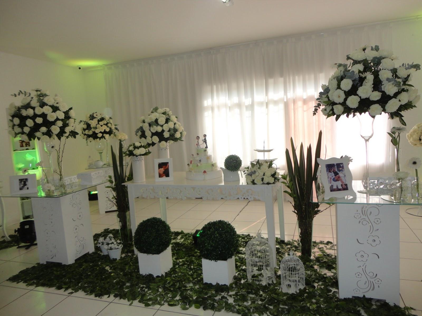decoracao branca casamento:Casamentos e Festa Tagliari: Decoração de Casamento Verde e Branca