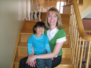 Rosalie 3 ans et maman Cinthia