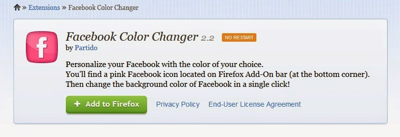 how to change the color of status in facebook