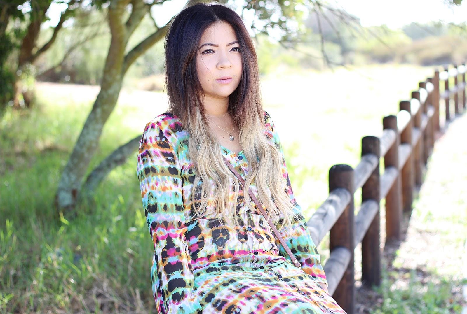 zara tie dye maxi dress, round reflective sunglasses, tie dye dress, button down maxi dress, modest fashion blogger, cape town fashion blogger