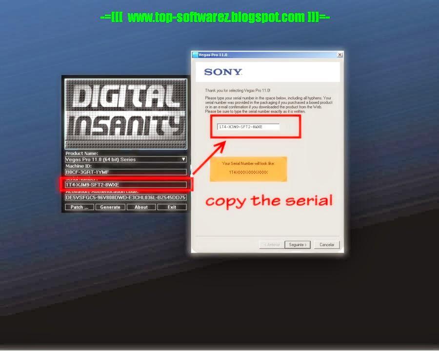 sony vegas pro 11 32 bit serial number free download