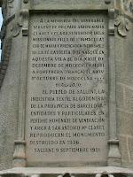 Dedicatòria del Monument al Pare Claret. Autor: Carlos Albacete