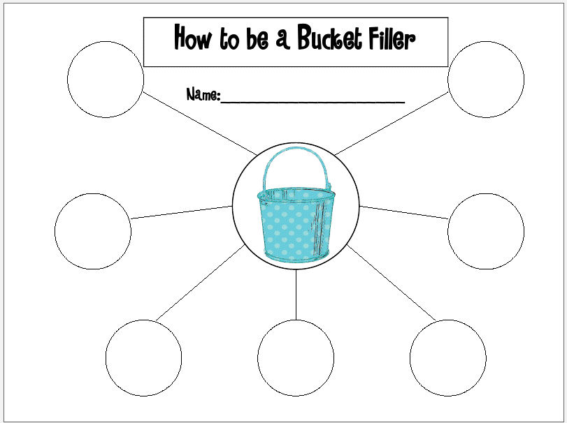 Bucket Filler Coloring Page Bucket Filler Printable