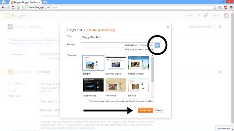 Cara Membuat Blog Gratis gambar 3