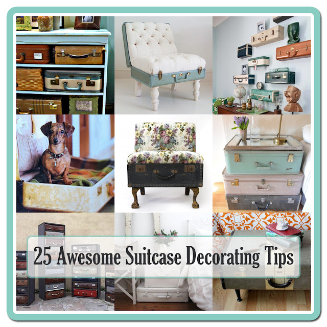 Check out these 25 awesome ways to decorate with old vintage suitcases around your home.