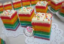 Rainbow Slice Cake