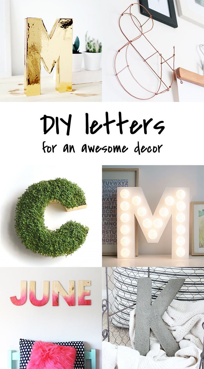 DIY to try # Letters