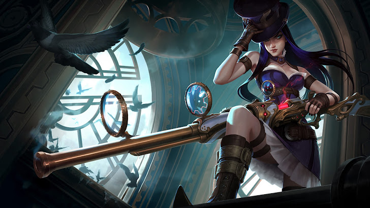 Caitlyn new splash art League of Legends