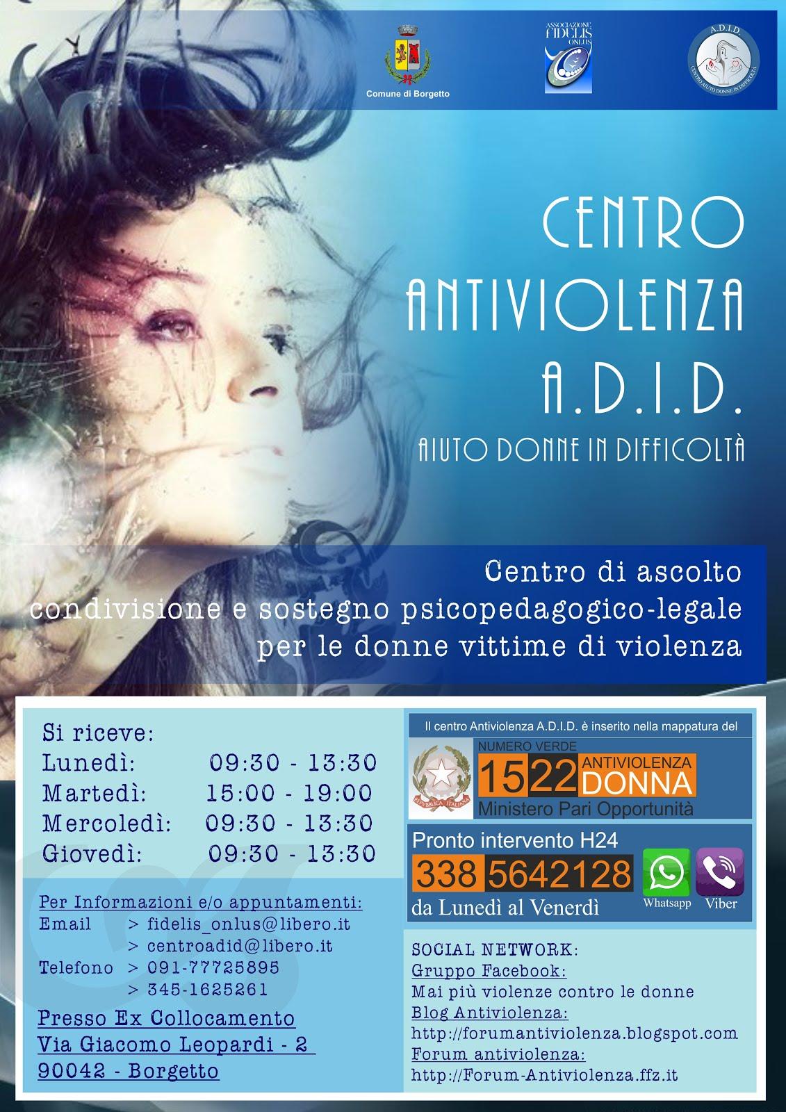 Locandina Centro Antiviolenza