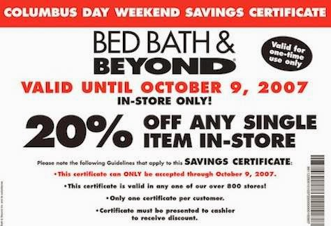 Bed bath beyond canada coupon 2018