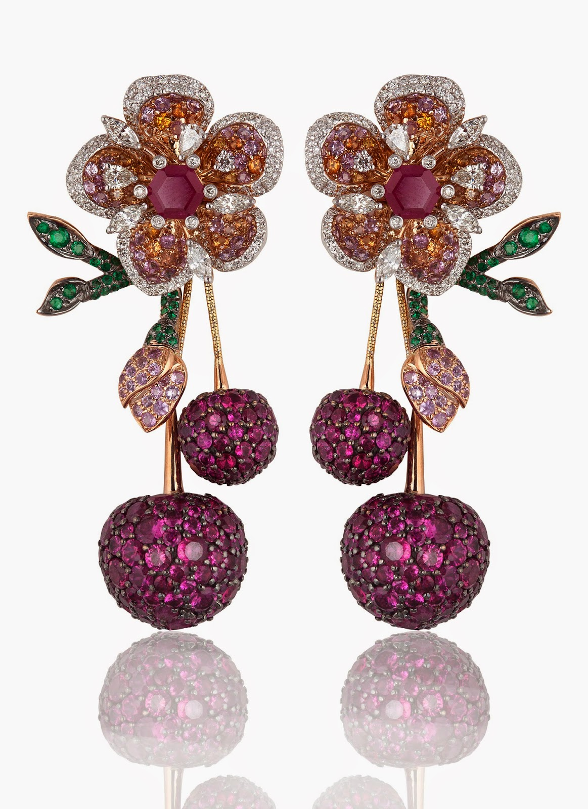 The Parure Earrings by Mirari Cherry Blossom Collection