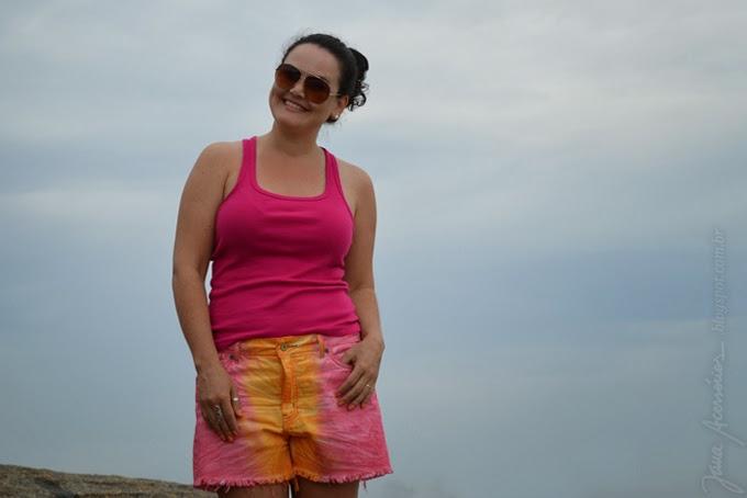 Blogueira, melissa, blog da jana, joinville, férias, praia, enseada, são francisco do sul Look da Jana
