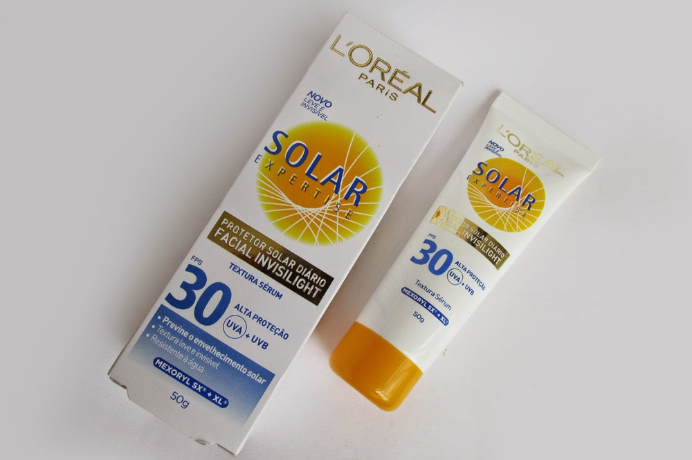 Resenha: Protetor Solar Facial L'oreal Invisilight Solar Expertise FPS 30