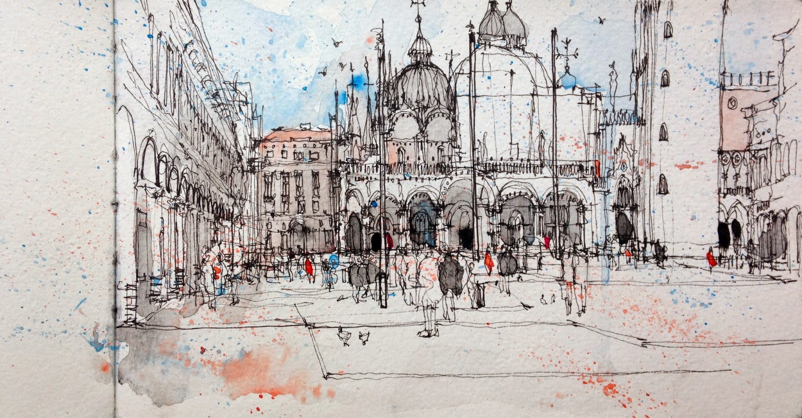 Line Drawing Venice : Urban sketching in venice sketchers