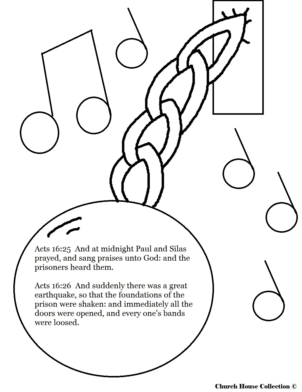 Childrens coloring sheet of saul and ananias - Church House Collection Blog Paul And Silas In Jail
