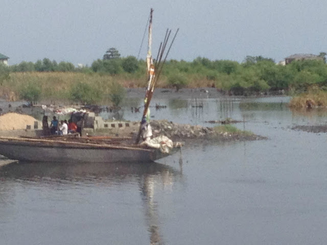 Traditional Boats used to get to Lagos before cars