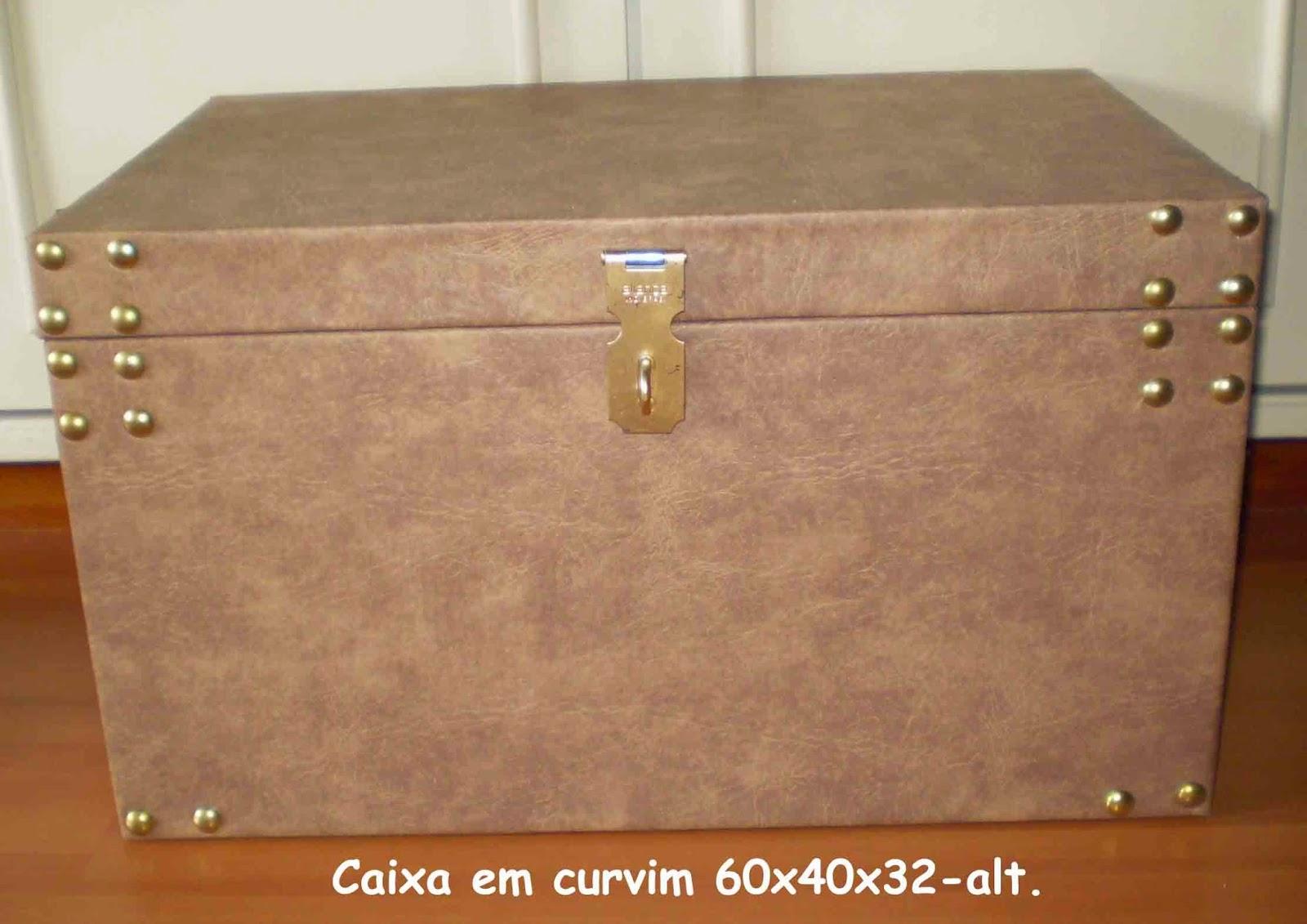 Baús e Caixas Artesanais: Caixas de madeira em curvim e tecido #7E441E 1600x1131