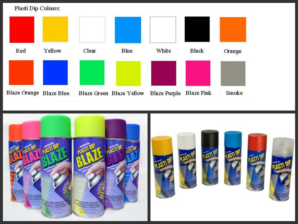 Plasti dip farger