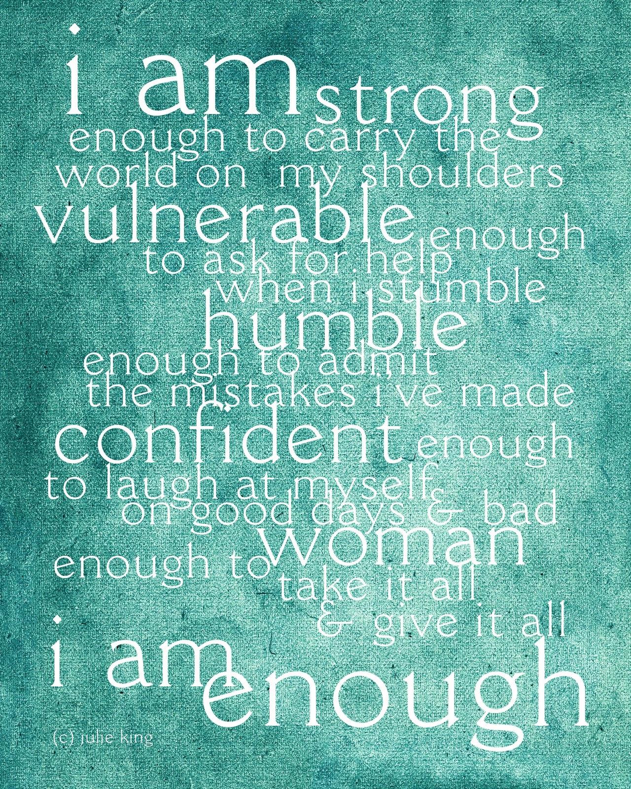 I Am Enough Quotes. QuotesGram