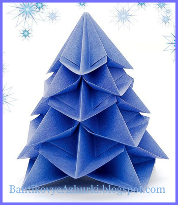 елочка в технике оригами