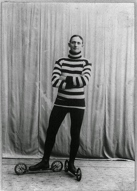 Patinador en 1905