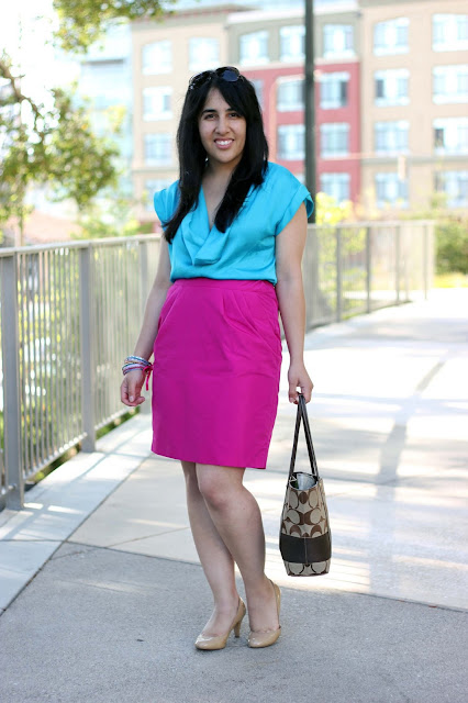 Blouse and Pencil Skirt