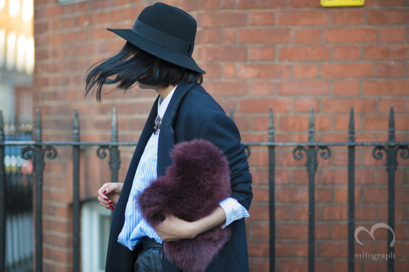 Buyer of Lane Crawford Tiffany Hsu leaves JWAnderson show at London Fashion Week 2014 LFW