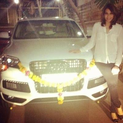 Bipasha Basu new white Audi Q7