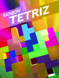 Screenshots of the Rainbow Tetris for java mobile, phone.