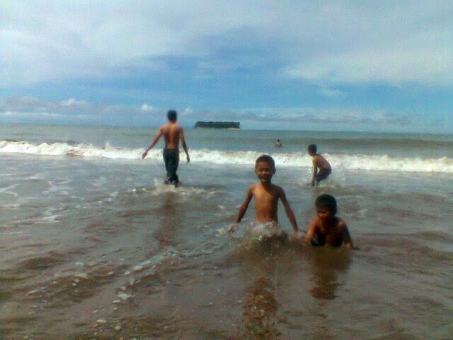 Gondoriah beach tourist in pariaman city Minang realm