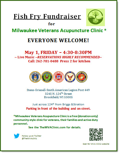 Milwaukee veterans acupuncture military stress recovery for Fish fry brookfield wi