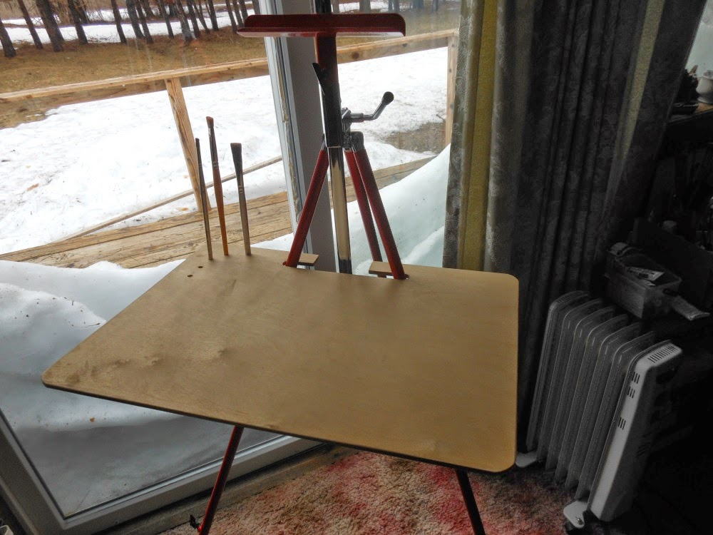 celene farris a maine artist simple plein air easel shelf