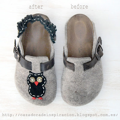 Shoes for children. DIY.