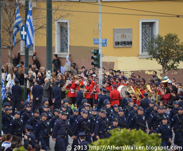 Independence Day Parade, Panepistimiou St., Athens, Greece.