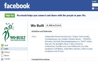 Wo-Built Page on Facebook Social Networking Service