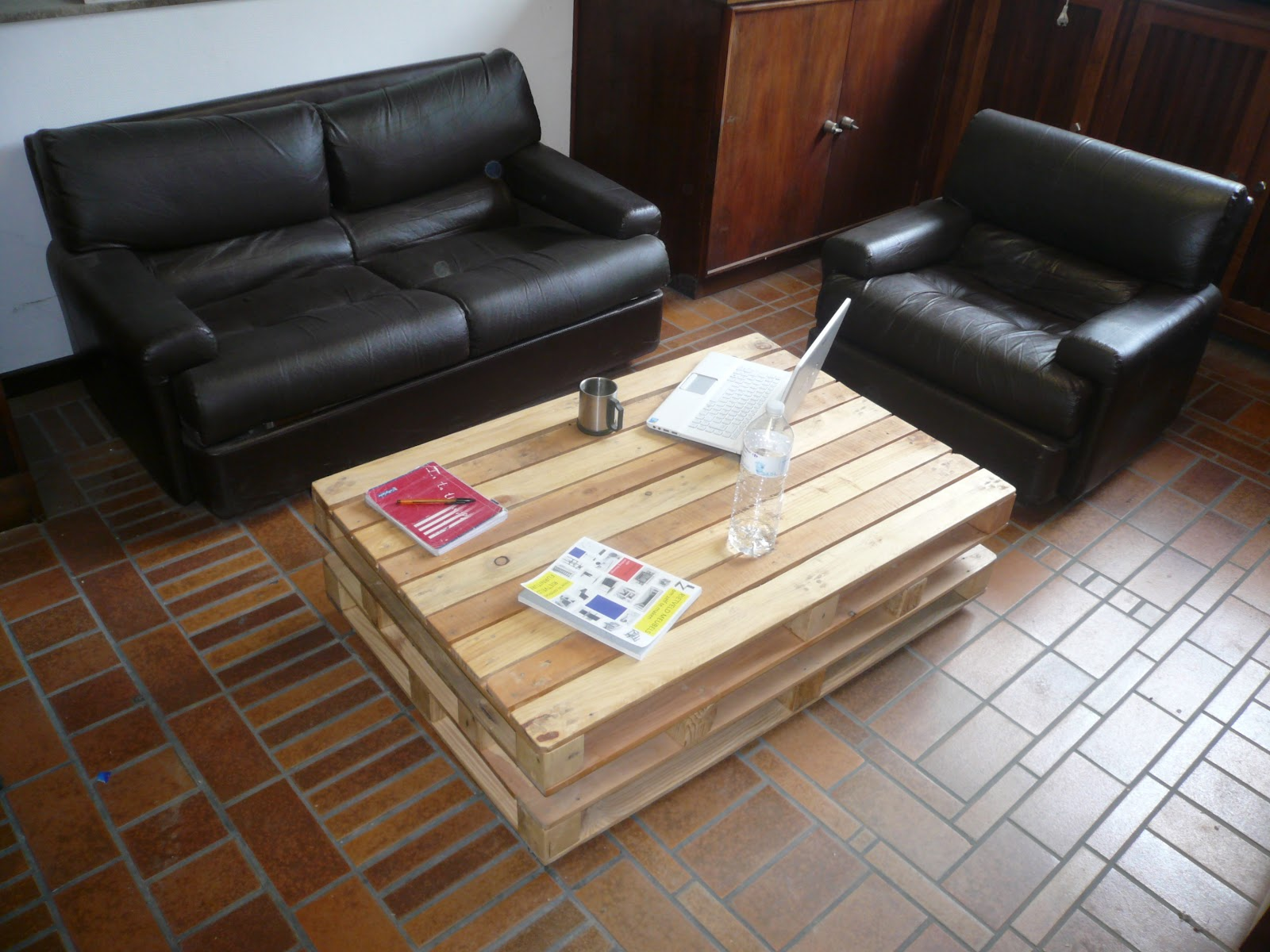Table basse palettes - Table de salon palette ...