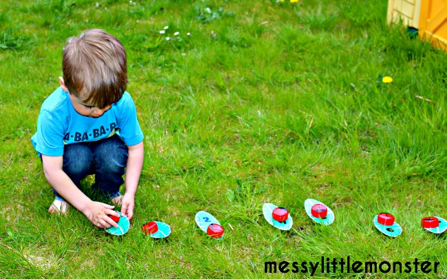 number game ladybird craft (FREE PRINTABLE NUMBER LEAVES)