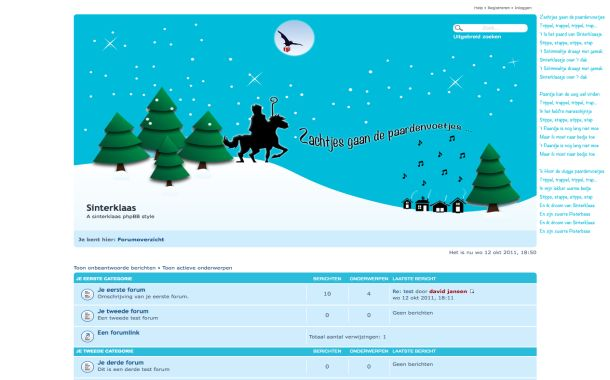 Free Noel Snow Christmas Phpbb Style Theme