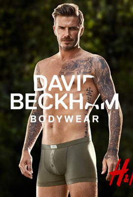 David Beckham bodywear H&M calzoncillos boxer