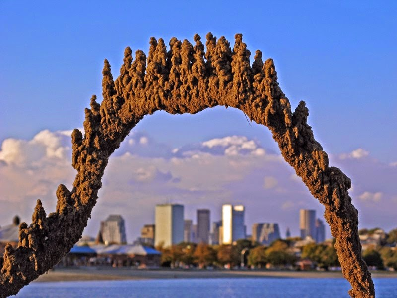 Striking Sea Sandcastles