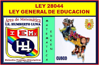 ley general de la educacion peru: