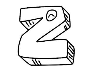 Alfabeto para colorir - Letra Z colorir