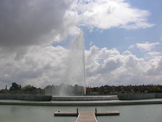 Géiser en Zaragoza agua Laloteta