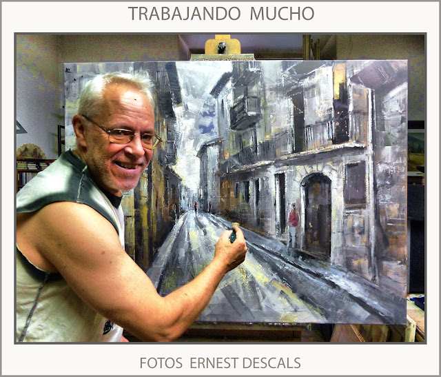 ERNEST DESCALS-PINTANDO-ARTISTA-PINTOR-TRABAJANDO-PINTURAS-CUADROS-FOTOS-