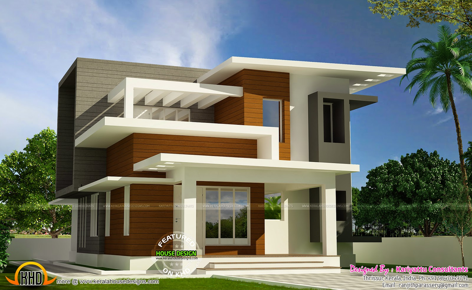 beautiful contemporary house exterior - Home Designs 2015
