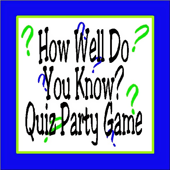 How Well Do You Know Quiz Party Game by Kandy Kreations
