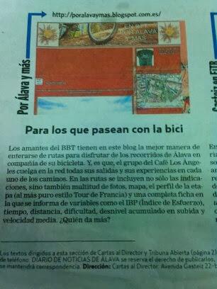 ARTICULO EN EL DIARIO NOTICIAS DE ALAVA EL DIA 25/10/2013